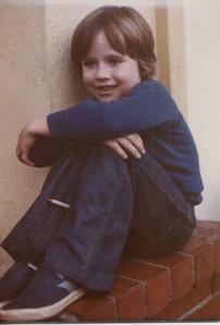 Travis as a little boy.
